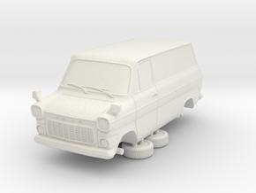 1-87 Ford Transit Mk1 Short Base Delivery Van (rep in White Natural Versatile Plastic