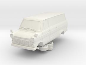 1-76 Ford Transit Mk1 Long Base Van Side Door in White Natural Versatile Plastic