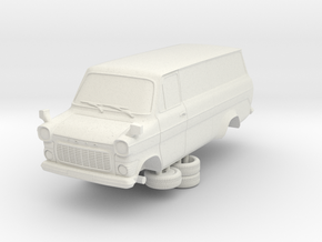 1-76 Ford Transit Mk1 Long Base Van in White Strong & Flexible