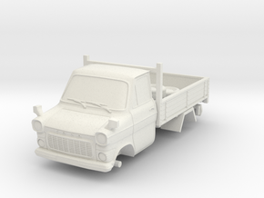 1-76 Ford Transit Mk1 Short Base Pickup Truck in White Strong & Flexible