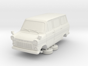 1-76 Ford Transit Mk1 Short Base Van Mini Bus in White Natural Versatile Plastic