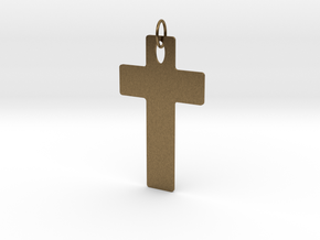 Cross Customizable in Natural Bronze (Interlocking Parts)