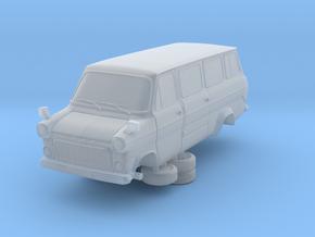 1-64 Ford Transit Mk1 Long Base Van Mini Bus in Smooth Fine Detail Plastic
