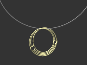 Coeur de Mobius in Raw Brass: Small