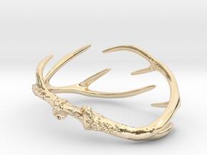Antler Bracelet Medium/Small (75mm)  in 14k Gold Plated Brass