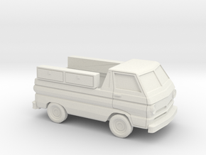 1/87 1964-70 Dodge A100 Service Pick Up in White Natural Versatile Plastic