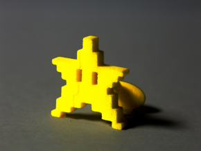 8bit STAR Cufflinks in Yellow Processed Versatile Plastic