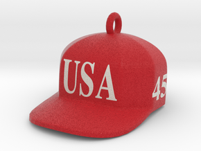 Trump Make America Great Again USA 45 Red Hat Orna in Full Color Sandstone