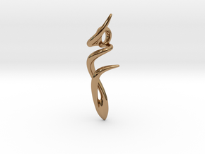 Dancer Pendant in Polished Brass