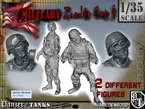 1-35 Military Zombie Set 4 in Frosted Ultra Detail