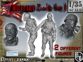 1-35 Military Zombie Set 6 in Frosted Ultra Detail
