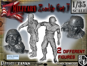 1-35 Military Zombie Set 7 in Frosted Ultra Detail