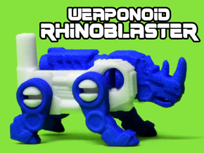 RhinoBlaster Transforming Weaponoid Kit (5mm) in White Strong & Flexible