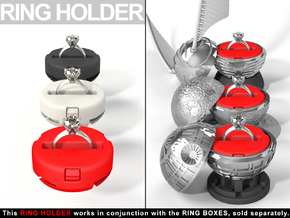 """INSERT RING HOLDER - To """"ALL NEW RING BOXES"""" in Red Strong & Flexible Polished"""
