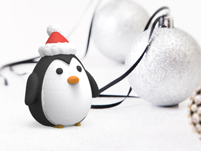 Holiday Penguin in Full Color Sandstone