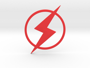 Kid Flash Emblem in Red Processed Versatile Plastic