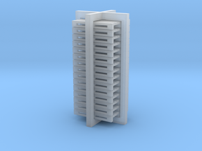N Scale Pallets 1100x1300 15pc in Smooth Fine Detail Plastic