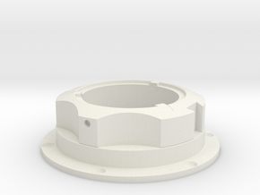Apollo-A7L-PLSS-Water Valve - (shorter) in White Natural Versatile Plastic