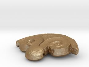 Jewelry Mold 1 in Matte Gold Steel