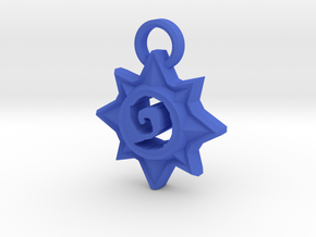 Star Pendant in Blue Processed Versatile Plastic