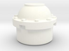 BIGFOOT 1 aluminum wheel center cap in White Processed Versatile Plastic