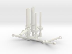 Strut & Control Arms 1/8 in White Natural Versatile Plastic