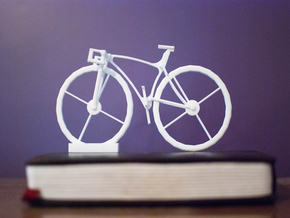 Bike Stand in White Natural Versatile Plastic