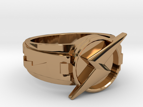 Wally West Flash ring 9 3/4 19.62 mm in Polished Brass