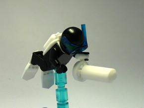 Minifigure Tech Dive Equipment (for tek diver / te in White Strong & Flexible Polished