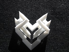 Cubic Heart in White Strong & Flexible