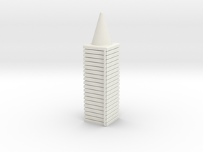 10 Traffic Cones (Stackable), 1/32 in White Natural Versatile Plastic