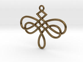 Dragonfly Celtic Knot Pendant in Natural Bronze