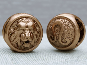 Zodiac Lion (charms) in Natural Bronze