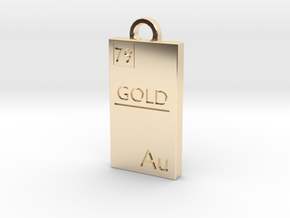 Gold Bar Pendant in 14k Gold Plated