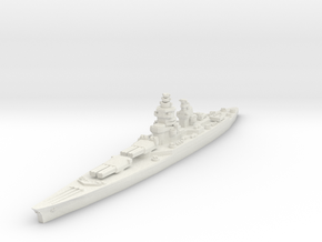 Richelieu battleship (1943 post-refit) 1/1800 in White Strong & Flexible