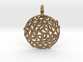 The Sun Pendant in Natural Brass
