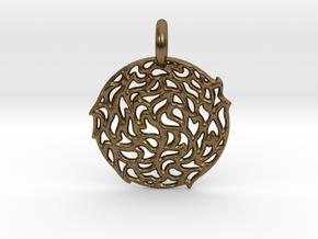 The Sun Pendant in Natural Bronze