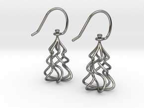 Christmas Tree Twirl in Interlocking Polished Silver