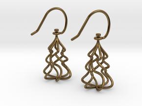 Christmas Tree Twirl in Polished Bronze (Interlocking Parts)