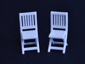 Dining Chair -  in White Strong & Flexible: 1:50