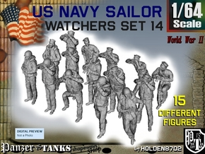 1-64 US Navy Watchers Set14 in Smooth Fine Detail Plastic