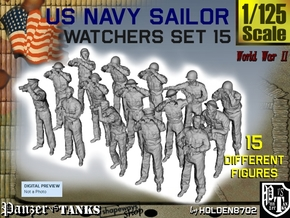 1-125 US Navy Watchers Set15 in Smooth Fine Detail Plastic