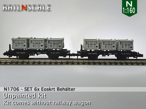 SET 6x Eoskrt 021 Behälter (FLM/MTX) (N 1:160) in Frosted Ultra Detail