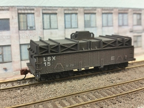 N scale 36' riveted BSX covered coil car in Frosted Ultra Detail