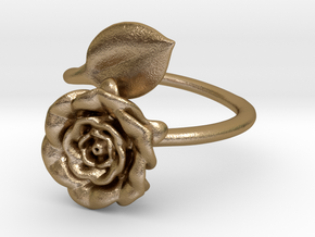 Wrap Ring - Rose in Polished Gold Steel