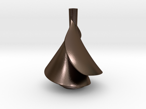 Small Lily Shape Water Vortex Spiral Impeller in Polished Bronze Steel
