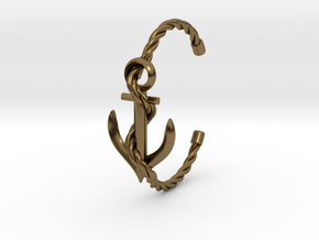 Anchor Bracelett in Polished Bronze