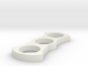 Hammerhead Spinner in White Natural Versatile Plastic