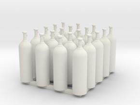 Acetylene Tanks All Valves 1-87 HO Scale in White Natural Versatile Plastic