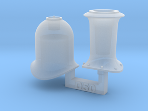 HO Eureka Models D50 Funnel & Steam Dome in Smooth Fine Detail Plastic